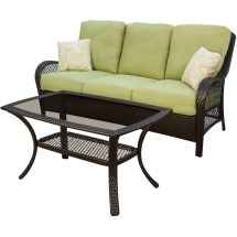 Hanover Orleans 4 Piece Wicker Loveseat And Chair Set With