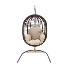 Hanging Wicker Egg Chair Hand Painted Wooden Childrens Chairs Hanover Outdoor Rattan Swing With
