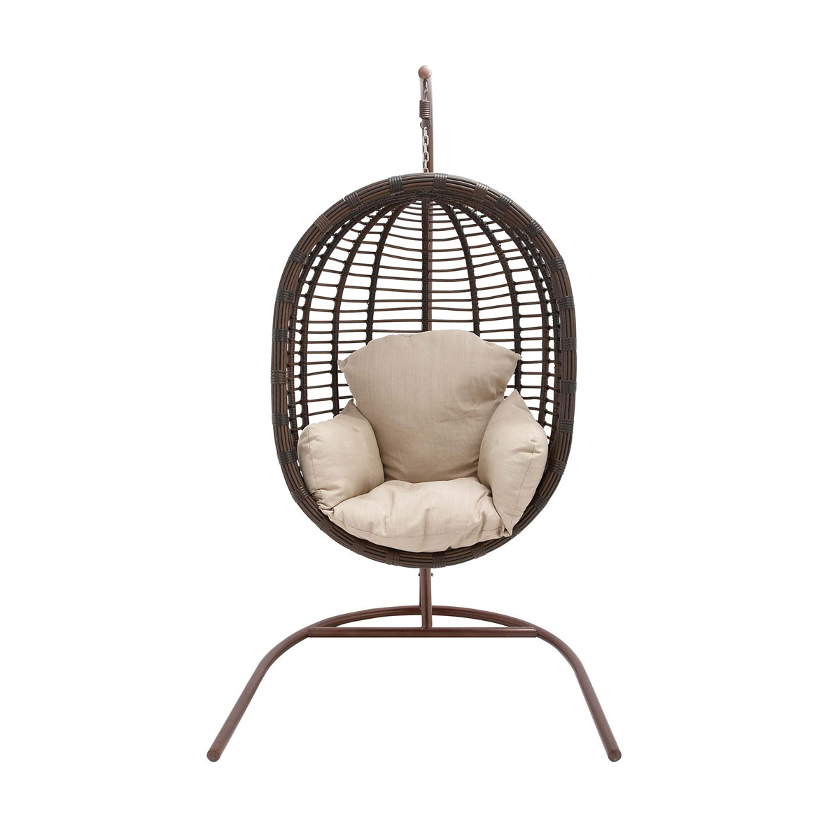 Outdoor Wicker Hanging Egg Chair Hanover Outdoor Wicker Rattan Hanging Egg Chair Swing With
