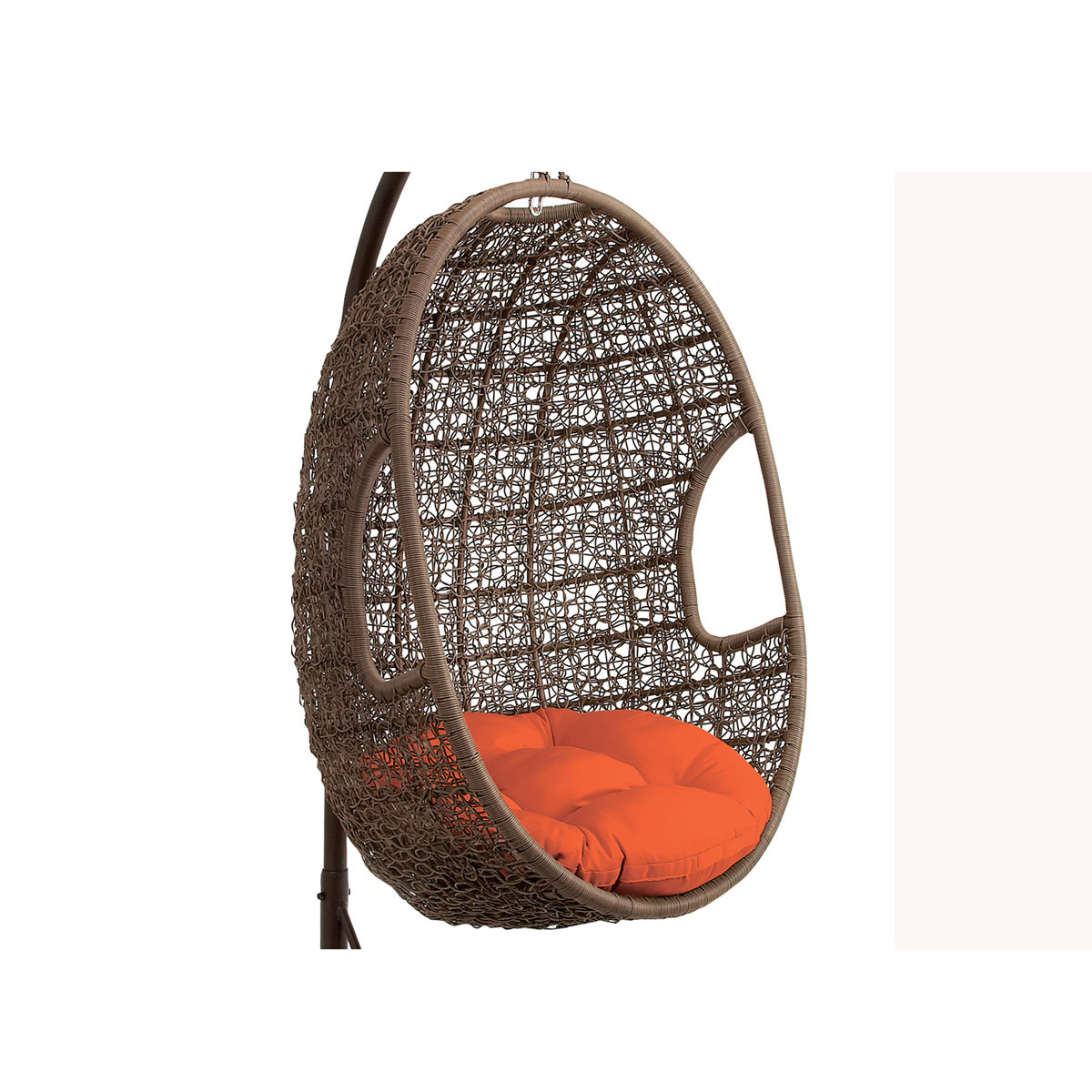 Outdoor Hanging Egg Chair Hanover Outdoor Wicker Rattan Hanging Egg Chair Swing With