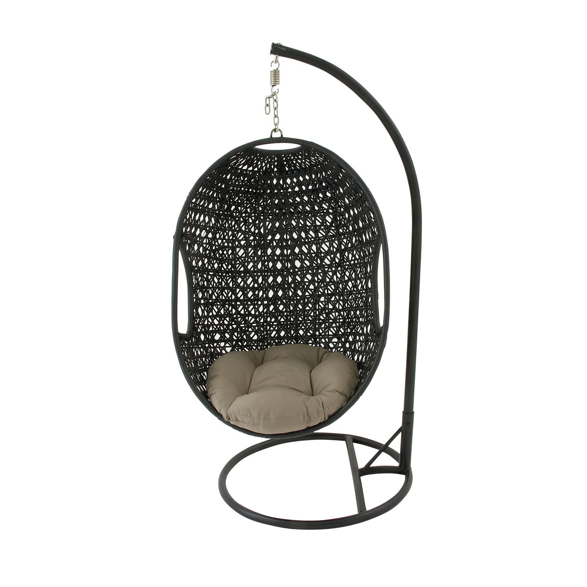 Wicker Hanging Egg Chair Hanover Outdoor Wicker Rattan Hanging Egg Chair Swing With