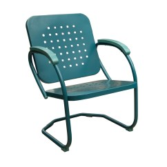 C Spring Patio Chairs Swivel Chair Wood Base Hanover Retro Set Of 2 Metal In Caribbean