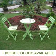 International Caravan Acacia 3 Piece Folding Bistro Set