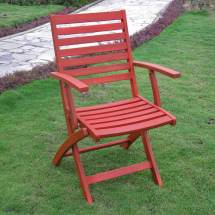 International Caravan Acacia Set Of Two Folding Chairs