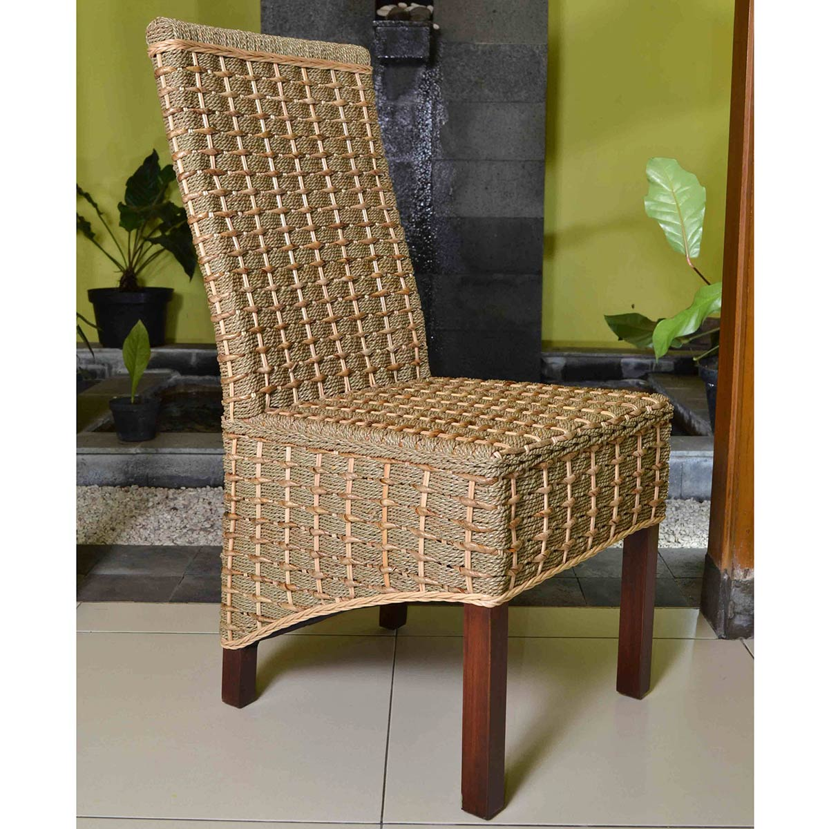 seagrass dining chairs office chair for tall person international caravan bayu banana and