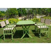 International Caravan Cariati 7 Piece Acacia Wood Patio