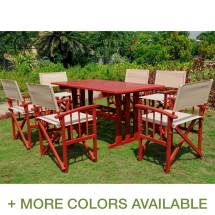 International Caravan Messina 7 Piece Acacia Wood Dining