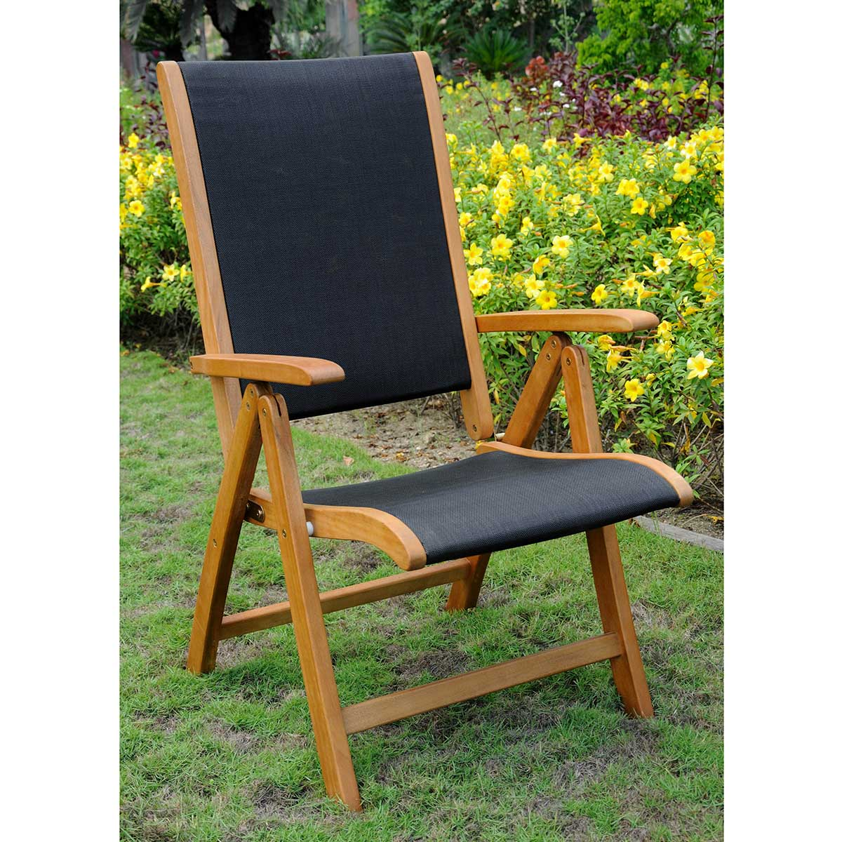 brown wooden folding chairs fire pit with international caravan royal tahiti set of two 5 position