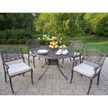 """Oakland Living Capitol 5 Piece Dining Set With 48"""" Table"""