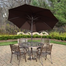 Oakland Living Mississippi 7 Piece Patio Dining Set With