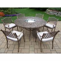 Oakland Living Mississippi 8pc Patio Dining Set With