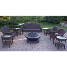 Wicker Patio Furniture Fire Pit Set