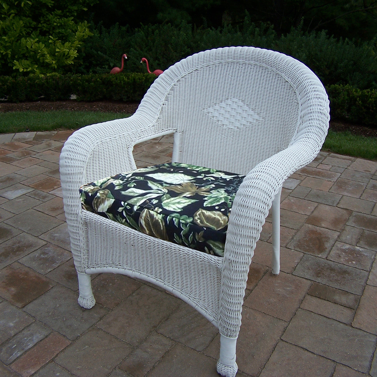 white resin wicker chairs folding table dunelm oakland living arm chair with cushions set