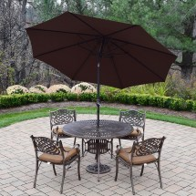 Oakland Living Sun Ray Mississippi 7 Piece Dining Set With