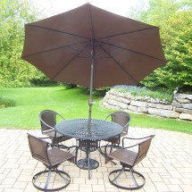 Oakland Living Sun Ray Tuscany 7 Pc. Dining Set With 48