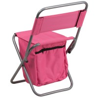 Folding Camping Chair with Insulated Storage in Pink ...