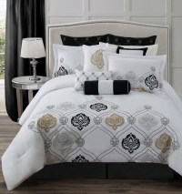 White And Gold: White And Gold Bedding Set Queen