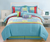 11 Piece Matrix Blue/Green/Red Bed in a Bag Set