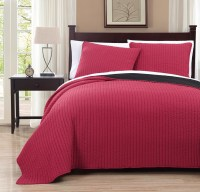 3 Piece Project Runway Red/Black Quilt Set