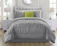 5 Piece Jervis Gray Bed in a Bag Set
