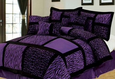 Turquoise And Purple Bedding