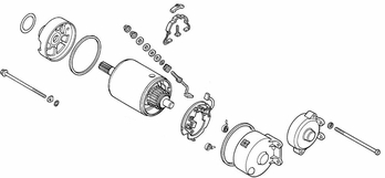 Starter Motor Assembly for Honda Elite 250 (1985-1988