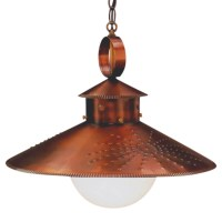 Country Kitchen Rustic Copper Pendant Hanging Barn Light