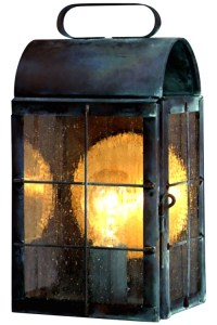 New Haven Colonial Wall Sconce Outdoor Light Copper Lantern