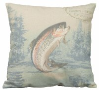 Green Fish Pillow - Primitives by Kathy