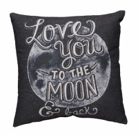To The Moon Chalk Pillow - Primitives by Kathy