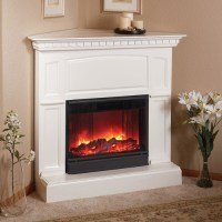 Heritage Corner Electric-White-Fireplace by Real Flame