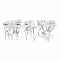 Lily Pad Coffee Table - Nickel (Set of 3) by Michael Aram