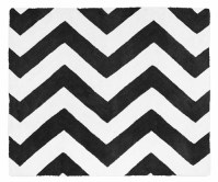 Black and White Chevron Zig Zag Accent Floor Rug by Sweet ...