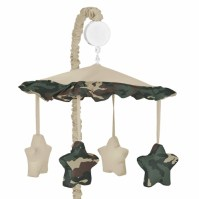 Green Camo Military Army Camouflage Musical Crib Mobile by ...