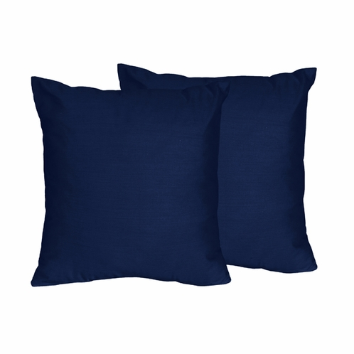 Navy Decorative Accent Throw Pillows for Navy Blue and