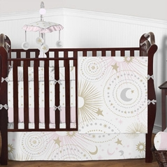 Moon and Stars Celestial Baby Bedding Sets