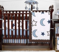 Stars and Moons Baby Bedding - 9pc Crib Set by Sweet Jojo ...