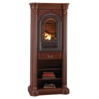Athens Wall Tower Mantel with Arched Ventless Fireplace ...