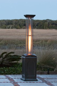 Fire Sense Square Flame Propane Gas Patio Heater with ...