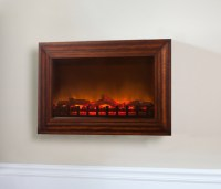 Fire Sense Wall-Mounted Electric Fireplace with Heater and ...