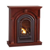 Florence Mid Height Wall Mantel with Arched Ventless ...