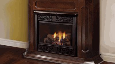 Majestic Chesapeake CFX 32 in Vent Free Natural Gas Fireplace System with Unfinished Wall Cabinet