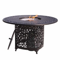 Dining Table: Patio Fire Pit Dining Table