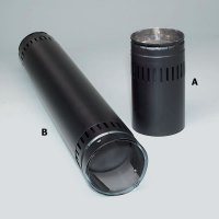 Security Double-Wall 6-Inch Adjustable Black Stovepipe ...