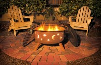 SoJoe Star & Moon Outdoor Fire Pit & Spark Guard - I001
