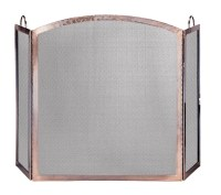 UniFlame 3 Panel Antique Copper Arched Fireplace Screen