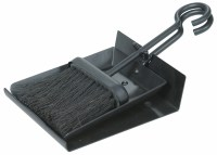 Uniflame Black Shovel and Brush Fireplace Set