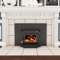 Vogelzang Wood Burning Colonial Fireplace Insert with ...