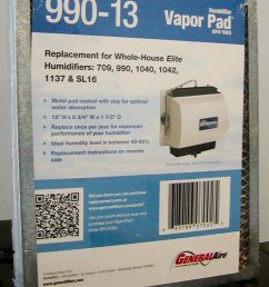 general aire humidifier pad model 990 13 fits several general aire and williamson humidfiers general aire humidifier filters owners manual  [ 864 x 1152 Pixel ]