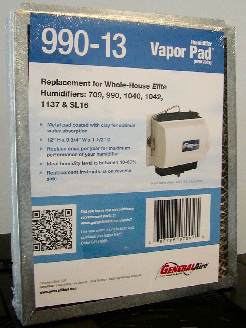 medium resolution of  general aire humidifier pad model 990 13 fits several general aire and williamson humidfiers general aire humidifier filters owners manual